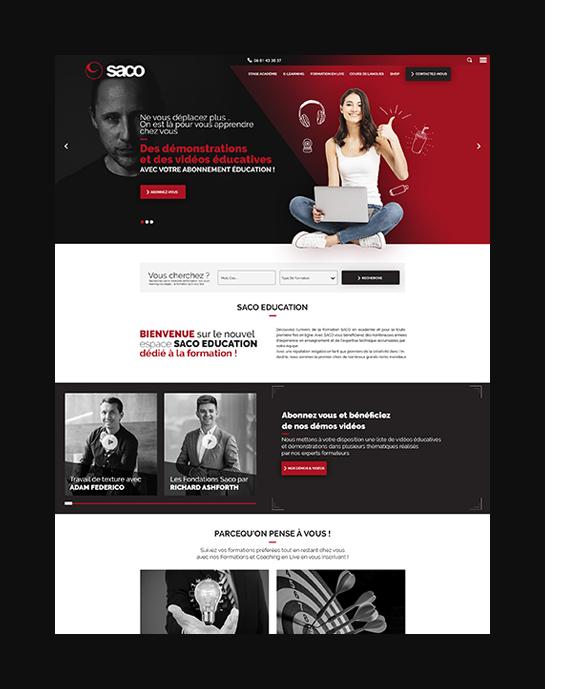 SACO-ÉDUCATION Site e-commerce
