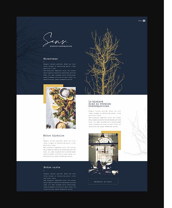 Sens – Bistrot contemporain site vitrine